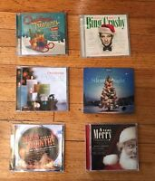 Lot of 6 Christmas Cd's Bing Crosby, Country, Ella Fitzgerald