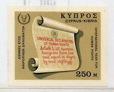 Chipre Año Internaciona Derechos Humanos Hojita año 1968 (DR-335)