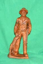 Vtg Hunter Hunting Figure Shotgun Retriever Dog Open Season Mans Best Friend Pup