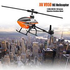 WLtoys V950 2.4g 6ch RC Helicopter 3d / 6g System Flybarless Brushless Motor RTF