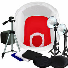 """Photo Studio 30""""&12"""" Photo Tent Lighting Backdrop Cube In A Box Light Stand Kit"""