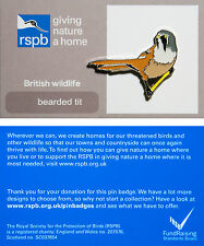 RSPB Pin Badge | Bearded Tit | GNaH backing card [01270]