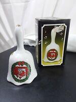 "Vintage artmark fine porcelain Christmas Bell item 2202 80s-90s used 5+"""
