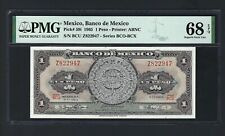 Mexico One Peso 1965 P59i Uncirculated Grade 68