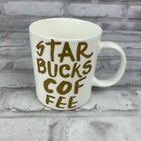 Starbucks Logo White Gold Graffiti Collection 2015 Coffee Mug 12 oz