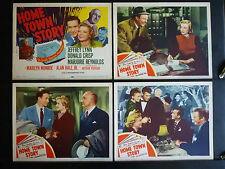 MARILYN MONROE - COMPLETE 8 LOBBY CARD SET - 1951 HOME TOWN STORY - EARLY SCARCE