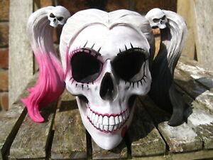 HARLEY QUINN SKULL HEAD FIGURE Ornament Little Monster JOKER GOTHIC GOTH PUNK
