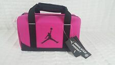 NWT NIKE AIR JORDAN KID GIRL PINK INSULATED SCHOOL TOTE LUNCH BOX LUNCHBOX BAG
