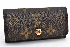 Authentic Louis Vuitton Monogram Multicles 4 Four Hooks Key Case M62631 LV A0548
