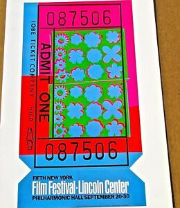 Andy Warhol Poster for Fifth New York Film Festival   16X11 Offset Litho LC