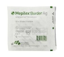 "Lot of 10 units, Mepilex Border Ag 4x4"" Safetac Technology, Exp 2022"
