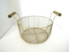 Wire Basket Shabby Chic Country Cottage Decor