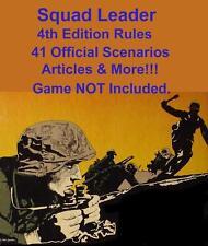 Squad Leader 4th Edition Rules, 41 Scenarios, 12 Articles, +More, Avalon Hill SL