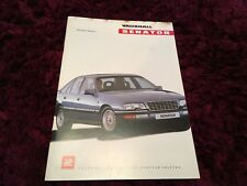 Vauxhall Senator UK Brochure 1990 Edition 1