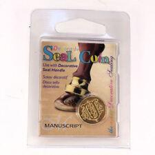 Manuscript Decorative Wax Sealing 18mm Coin Seal - Initial U