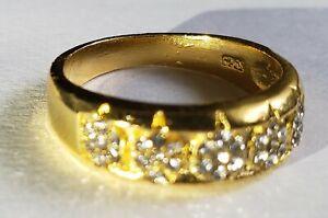 Genuine 14K Yellow Gold Mens Diamond Band Tennis Pinky Ring Anniversary Gift Eng