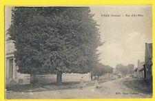 cpa Ecrite en 1916 FRANCE Old Postcard 80 - VAUX (Somme) Rue d'en Haut Eglise