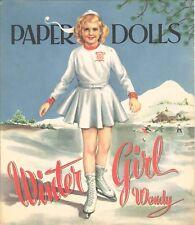 Vintge 1952 Summer Sue Winter Wendy Paper Doll Lasr Reprodu~Org Sz UncuT Free Sh