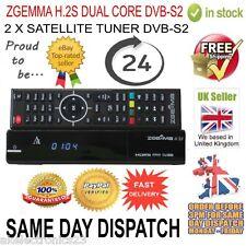 ZGEMMA H.2S DUAL CORE TWIN TUNER SATELLITE RECEIVER DVB-S2  FREE TO AIR