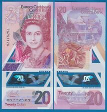 East Caribbean States 20 Dollars P New 2019 Polymer UNC QE II Queen Elizabeth