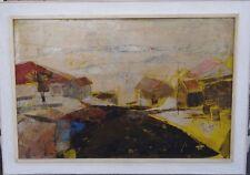 """Markus, 1969 """"moderne Landschaft"""" Öl/Karton, gerahmt, (225/12069)"""