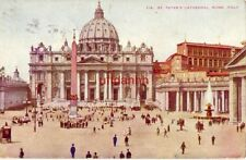 ST. PETER'S CATHEDRAL. ROME, ITALY Largest in Christendom Michael Angelo 1910