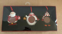 St. Nicholas Square Snowman, Santa, Penquin Christmas Ornament Frames ~New~