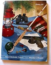 1940-50s General Merchandise Catalog for Outdoors Fishing Camping Hunting Sports