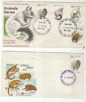 Australia 2 x 1974 Animal series FDC