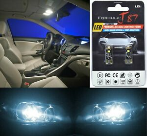 Canbus Error LED Light 168 White 6000K Two Bulbs License Plate Tag Upgrade SMD