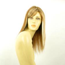 Perruque femme mi-longue blond foncé méché blond clair VERA F27613