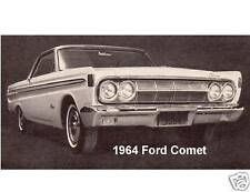 1964 Ford Comet  Auto Refrigerator / Tool Box Magnet Gift Card Insert