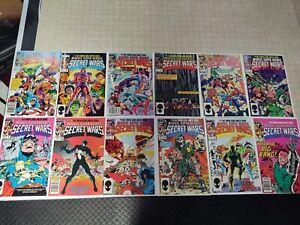 Marvel secret wars 1-12 high grade set! Vf-Nm  First Black Costume Spider-Man