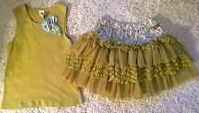 Matilda Jane Serendipity Green Celery Tank Top Cotton Candy Tutu Skirt 8 10 12