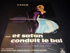 roger vadin ET SATAN CONDUIT LE BAL c deneuve  affiche cinema 1962
