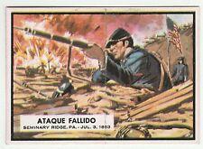 Topps A&BC Civil War News Gum Card Spain Spanish language printing #47