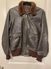 No Intl. Buyers Monarch Co G-1 Leather Flight Jacket Korea Mil-J-7823(Aer) Sz 38