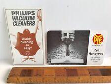 1960S PHILIPS & PYE VACUUM CLEANER VINTAGE SALES BROCHURES HANDYVAC EXC!!!