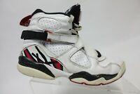 NIKE Air Jordan 8 VIII Retro Playoff White Sz 6y Kids Basketball Sneakers