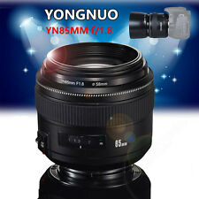 Yongnuo 85mm F1.8 1:1.8 Standard Prime Lens Auto Manual Focus AF MF Fr Canon EOS