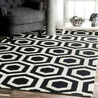nuLOOM Contemporary Geometric Hand Tufted Honeycomb Mayra Black Area Rug