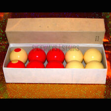 "VINTAGE ARAMITH BUMPER POOL BALLS Belgian billiards ball set 2-1/8"" '70s '80s"