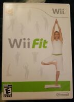 Wii Fit Nintendo Wii, 2008 Game Disc, Manual and Case.