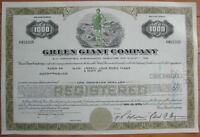 'Green Giant Co.' Stock/Bond Certificate w/COLOR Vignette