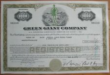 'Green Giant Co.' Stock/Bond Certificate w/COLOR Vignette