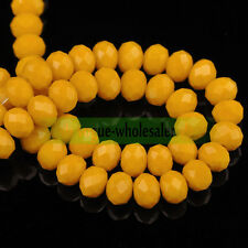 30pcs 8mm Rondelle Faceted Crystal Glass Loose Spacer Beads Jewelry Findings
