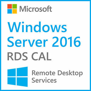 Win Server 2016 RDS CAL 50 User Remote Desktop Services + Win Server 2016 OS Key