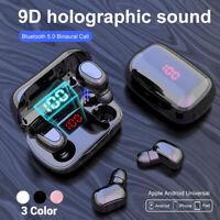 Bluetooth 5.0 Headset TWS Wireless Earphones Mini Stereo Headphones Earbuds LED