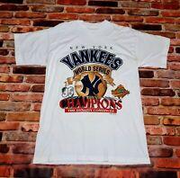 New York Yankees 1996 World Series Champions T-Shirt White Size XL