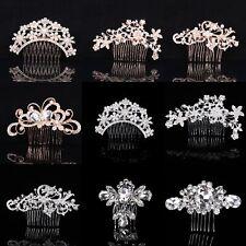 Bridal Hair Combs Pearls Crystal Headpiece Womens Wedding Hair Accessories Decor
